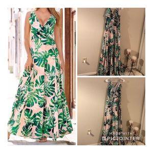 Cute Boston Proper wrap Maxi dress!